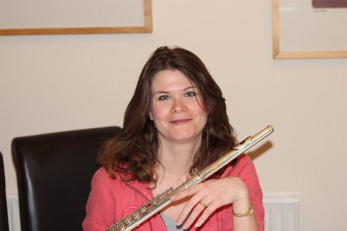 Feb 2013 - Posing with my flute (with new haircut)