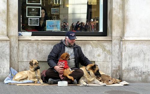 Homeless man - flickr Creative Commons