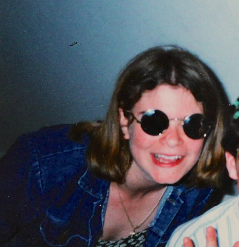 me, aged c. 15, with my cool sunglasses