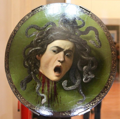 Caravaggio's Head of Medusa - photo by Jon Marlow