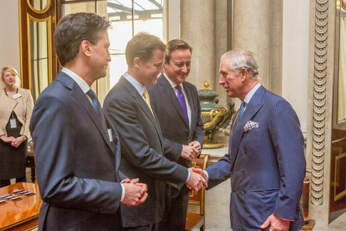 Ed Milliband, Nick Clegg, David Cameron, all together. How often does that happen?