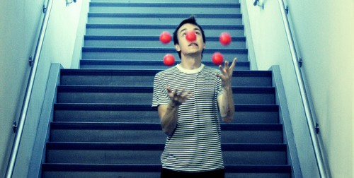 When life feels like a juggling act (Photo Credit Gabriel Rojas Hruska)