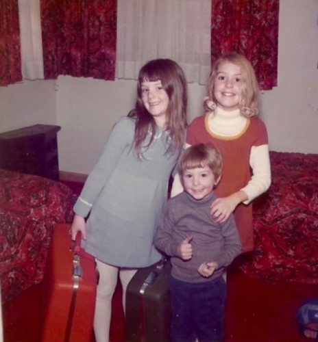 Amy with her siblings