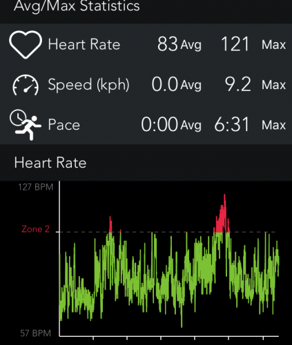 My heart rate at the party. Spot the solo/speech