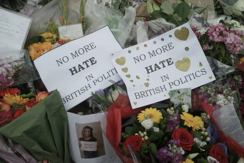 Messages left at Jo Cox MP's vigil Photo Credit: Steve Eason