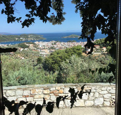 Greece Skiathos fronds frame