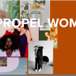 Propel Women homepage screenshot - pictures of women and beautiful homes
