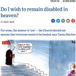 Screenshot of Church Times Disabled article 31 May 2019